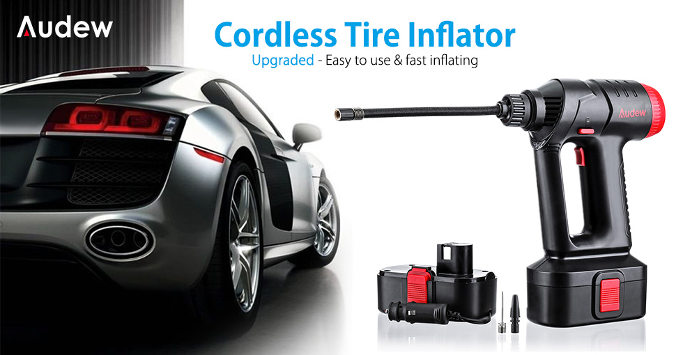 AUDEW cordless tire inflator review