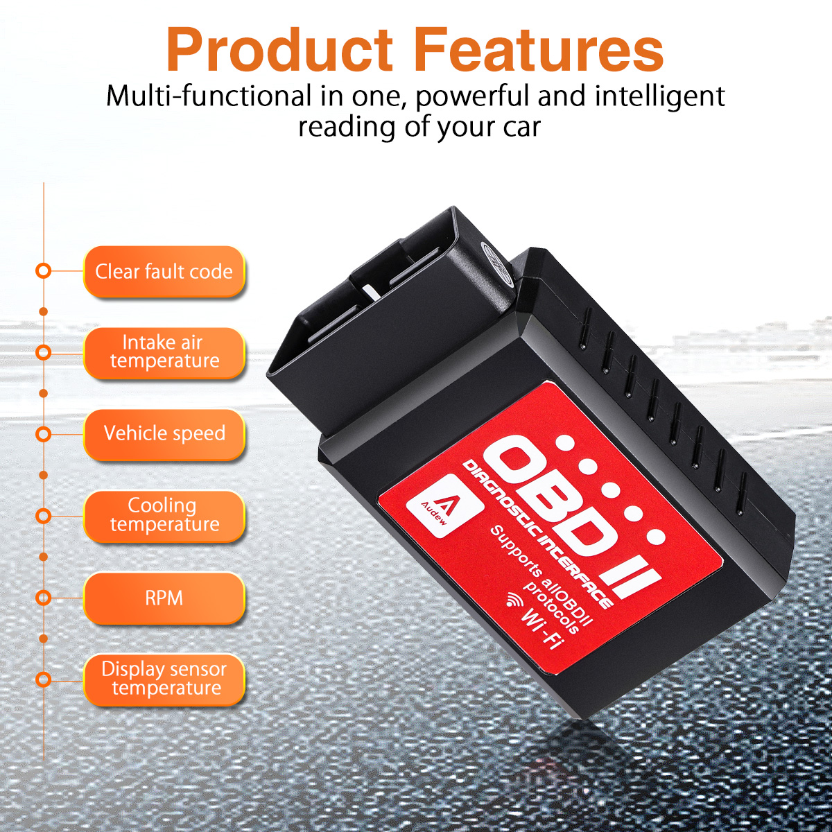 Audew Car WiFi OBDII Reader/Scanner