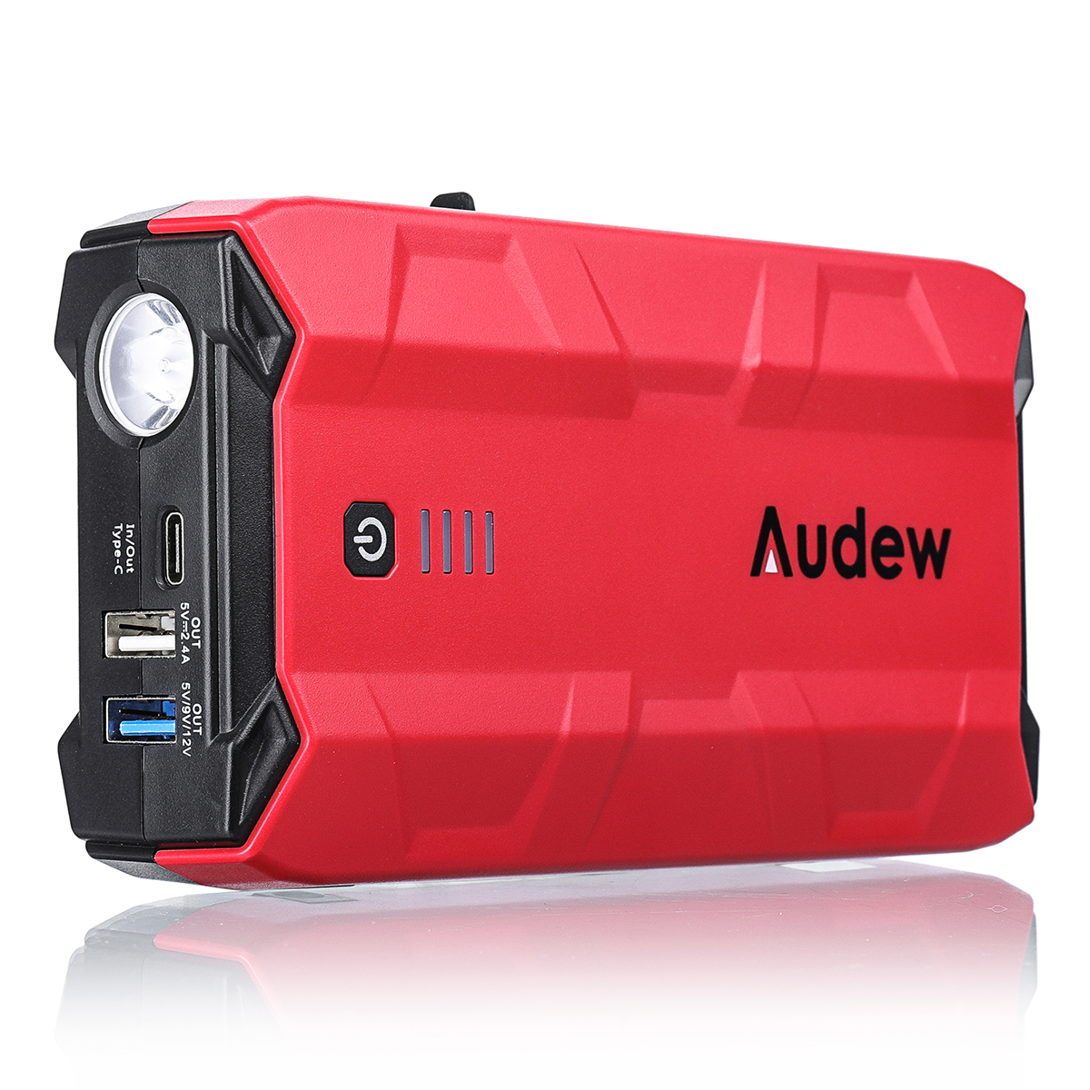Audew 10800mAh Car Jump Starter, Peak Current 1000A