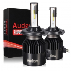 AUDEW H4 LED Headlight Bulbs 8000 Lumens 6000K Cool White with COB Chips Adjustable Beam Bulbs ,IP68 Waterproof All-in-One Conversion kit -2 Year Warranty