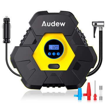 Audew 12V 150PSI Triangle Tire Inflator with 10 ft. Power Cord, LCD Digital Display